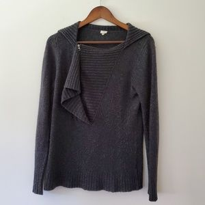 J. CREW  gray sweater Merino wool blend size m